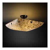 Justice Design ALR-9657-25-DBRZ-F6-LED6-6000 Alabaster Rocks LED 51 inch Dark Bronze Semi-Flush Ceiling Light in Concentric Circles, Square Bowl, 6000 Lm LED