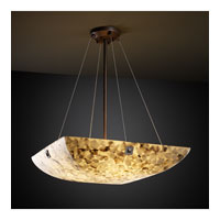 Alabaster Rocks 6 Light 27 inch Dark Bronze Pendant Bowl Ceiling Light in Square Bowl, Large Square with Point