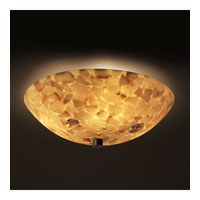 Alabaster Rocks 3 Light Dark Bronze Semi-Flush Bowl Ceiling Light in Round Bowl