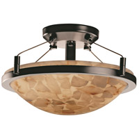 Alabaster Rocks 2 Light 16 inch Brushed Nickel Semi-Flush Bowl Ceiling Light