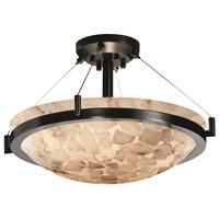 Justice Design ALR-9692-35-NCKL-LED5-5000 Alabaster Rocks 5 Light 27 inch Brushed Nickel Pendant Ceiling Light
