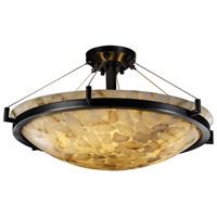 Justice Design ALR-9682-35-DBRZ-LED5-5000 Alabaster Rocks LED 27 inch Dark Bronze Semi-Flush Ceiling Light in 5000 Lm LED