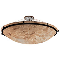 Metal Alabaster Rocks Semi-Flush Mounts
