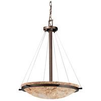 Justice Design ALR-9692-35-DBRZ-LED5-5000 Alabaster Rocks LED 27 inch Dark Bronze Pendant Ceiling Light Bowl