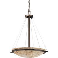 Justice Design ALR-9692-35-DBRZ Alabaster Rocks 5 Light 27 inch Dark Bronze Pendant Ceiling Light Bowl