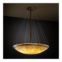 Alabaster Rocks 8 Light 21 inch Dark Bronze Pendant Bowl Ceiling Light