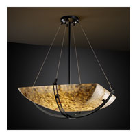 Alabaster Rocks 6 Light 28 inch Matte Black Pendant Bowl Ceiling Light in Square Bowl