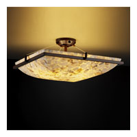 Alabaster Rocks 6 Light 27 inch Dark Bronze Semi-Flush Bowl Ceiling Light