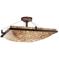 Justice Design ALR-9787-25-DBRZ-LED6-6000 Alabaster Rocks LED 53 inch Dark Bronze Semi-Flush Ceiling Light Square