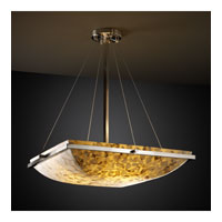 Alabaster Rocks 6 Light 27 inch Brushed Nickel Pendant Bowl Ceiling Light