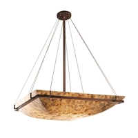 Justice Design ALR-9797-25-DBRZ-LED6-6000 Alabaster Rocks LED 53 inch Dark Bronze Pendant Ceiling Light in 6000 Lm LED