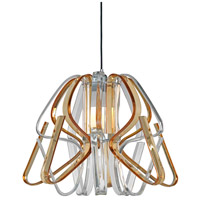 Justice Design BOH-6001-CLAM-CROM Bohemia Kika LED 24 inch Polished Chrome Chandelier Ceiling Light