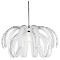Justice Design BOH-6012-WHTE-CROM Bohemia Danubio LED 28 inch Polished Chrome Chandelier Ceiling Light