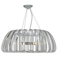 Justice Design BOH-6024-CLER-CROM Bohemia Geminis LED 36 inch Polished Chrome Chandelier Ceiling Light