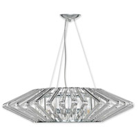 Justice Design BOH-6034-CLER-CROM Bohemia Columba LED 39 inch Polished Chrome Chandelier Ceiling Light