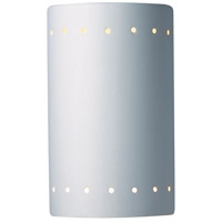 Justice Design Group Ambiance Small Cylinder w/ Perfs Wall Sconce in Bisque CER-0990-BIS
