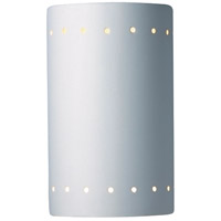 Justice Design Group Ambiance Small Cylinder w/ Perfs Outdoor Wall Sconce in Bisque CER-0990W-BIS