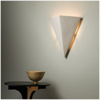 Justice Design CER-1140-TERA Ambiance Triangle 2 Light 20 inch Terra Cotta Wall Sconce Wall Light in Incandescent, Really Big CER-1140-CRK_INSTAL.jpg thumb