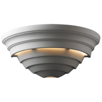 Justice Design Group Ambiance Really Big Supreme Outdoor Wall Sconce in Bisque CER-1155W-BIS