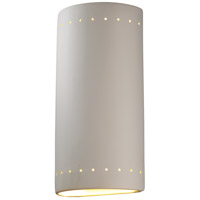 Justice Design Group Ambiance Really Big Cylinder w/ Perfs Outdoor Wall Sconce in Bisque CER-1195W-BIS