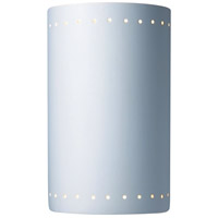 Justice Design Group Ambiance Large Cylinder w/ Perfs Outdoor Wall Sconce in Bisque CER-1295W-BIS