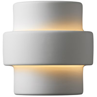 Justice Design Group Ambiance Small Step Outdoor Wall Sconce in Bisque CER-2205W-BIS