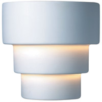 Justice Design CER-2225W-BIS Ambiance Terrace 1 Light 10 inch Bisque Outdoor Wall Sconce in Incandescent, Small thumb