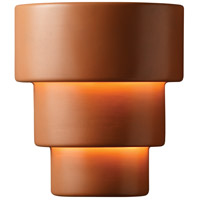 Justice Design CER-2235-VAN Ambiance Terrace 2 Light 13 inch Vanilla Gloss Wall Sconce Wall Light in Incandescent, Large thumb