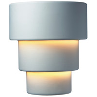 Justice Design Group Ambiance Large Terrace Outdoor Wall Sconce in Bisque CER-2235W-BIS