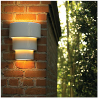 Justice Design CER-2235W-SLTR-LED1-1000 Ambiance Terrace LED 14 inch Tierra Red Slate Outdoor Wall Sconce in 1000 Lm LED, Large CER-2235W-WHT_INSTAL.jpg thumb