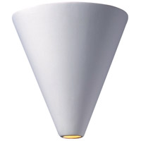 Justice Design Group Ambiance Cut Cone Wall Sconce in Bisque CER-2410-BIS