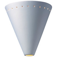 Justice Design Group Ambiance Cut Cone w/ Perfs Wall Sconce in Bisque CER-2495-BIS