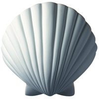Justice Design Group Ambiance ADA Scallop Shell Wall Sconce in Bisque CER-3730-BIS
