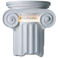 Justice Design Group Ambiance Ionic Column Outdoor Wall Sconce in Bisque CER-4715W-BIS