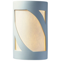 Justice Design CER-5325-BIS Ambiance Cylinder 1 Light 6 inch Bisque ADA Wall Sconce Wall Light in Incandescent White Styrene Small