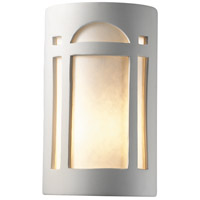 Justice Design Group Ambiance Small ADA Arch Window Wall Sconce in Bisque CER-5385-BIS