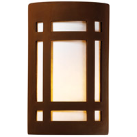 Justice Design CER-5490W-RRST-PL1-LED-9W Ambiance LED 8 inch Real Rust ADA Wall Sconce Wall Light photo thumbnail