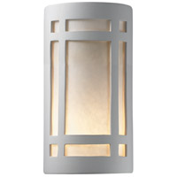 Justice Design CER-5495-BIS Ambiance 2 Light 8 inch Bisque ADA Wall Sconce Wall Light in Incandescent, White Styrene
