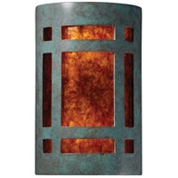 Ambiance 2 Light 8 inch Verde Patina ADA Wall Sconce Wall Light in Incandescent, Mica