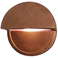 Justice Design CER-5610-HBVN Ambiance LED Hammered Brass with Vanilla Gloss ADA Wall Sconce Wall Light in Hammered Brass and Vanilla Gloss, Closed Top Fixture, Dome photo thumbnail