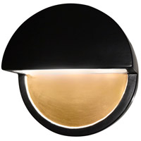 Justice Design CER-5610W-CBGD Ambiance LED Carbon Matte Black with Champagne Gold ADA Wall Sconce Wall Light in Carbon-Matte Black and Champagne Gold, Closed Top Fixture, Dome alternative photo thumbnail
