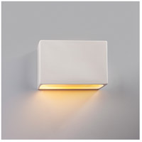 Justice Design CER-5640W-CBGD-LED1-1000 Ambiance LED 10 inch Matte Black ADA Wall Sconce Wall Light photo thumbnail