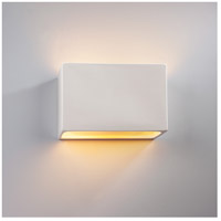 Justice Design CER-5645-HMBR-LED1-1000 Ambiance LED 10 inch Polished Chrome ADA Wall Sconce Wall Light photo thumbnail