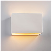 Justice Design CER-5655-MID-LED2-2000 Ambiance LED 12 inch Matte Black ADA Wall Sconce Wall Light photo thumbnail