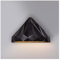 Justice Design CER-5660W-STOS Ambiance 1 Light 12 inch Matte Black Wall Sconce Wall Light photo thumbnail