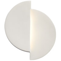 Justice Design CER-5675-HMPW Ambiance LED 9 inch Hammered Pewter ADA Wall Sconce Wall Light, Offset photo thumbnail