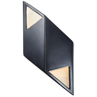 Justice Design CER-5835-BKMT Ambiance LED 6 inch Gloss Black with Matte White ADA Wall Sconce Wall Light in Gloss Black and Matte White, Rhomboid photo thumbnail