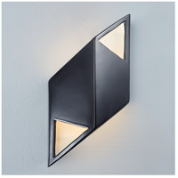 Justice Design CER-5839-BKMT Ambiance LED 6 inch Polished Chrome ADA Wall Sconce Wall Light photo thumbnail