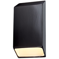 Justice Design CER-5870-BIS Ambiance LED 7 inch Bisque ADA Wall Sconce Wall Light, Closed Top Fixture, Tapered Rectangle
