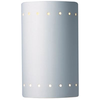 Justice Design Group Ambiance Small ADA Cylinder w/ Perfs Wall Sconce in Bisque CER-5990-BIS